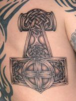 Viking Art Thorshammer 2 by DarkSunTattoo