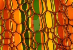 Bubble stripes orange by AdBphotography