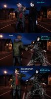 Spiderman and Blackheart - Power Problems by DeathsFugitive