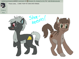 Answer 34: the kits are ponies by ask-female-scourge