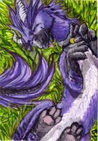 ACEO: Kyuubreon by Phoeline