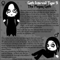 Goth Type 9: The Mopey Goth by Trellia