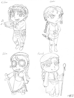 LARP Camp Chibis by VickyViolet