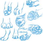 DoggieFeets- Practice/Studies by TaksArt
