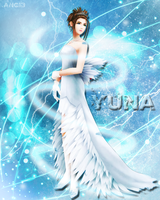 Yuna in blue world by Red-AnGi3