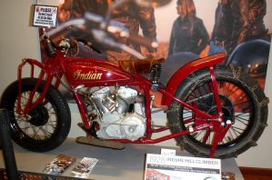 1928 Indian Hill Climb Motorcycle by Caveman1a