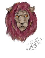 Mikail the lion by sanr4