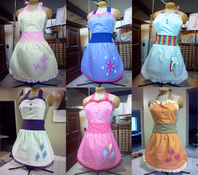 My Little Pony- Aprons by PhantomClark