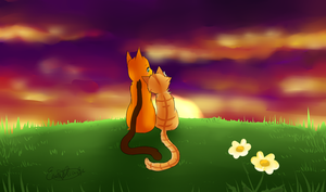 Watching The Sunset Together (HoneyxCopper) by Eeveelutions95