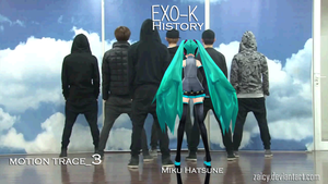 MMD EXO-K HISTORY motion trace_5 video by Zaicy