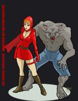 Red Riding Hood and Big Bad Wolf by inspector 97 by TheCosmicBeholder