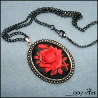 Romantic Flair Rose Necklace by 1337-Art