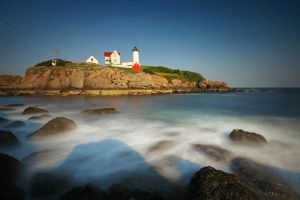 Nubble Light by tfavretto