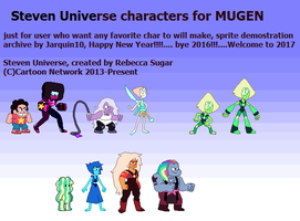 Steven Universe characters sprite gallery by Jarquin10