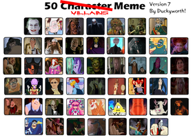 50 Villains Meme Part 7 by Duckyworth