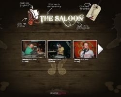 website cafe the saloon by peter28