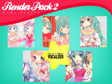 RENDER PACK #2   VOCALOID by HowlHeaven