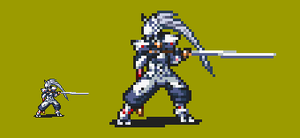 Hakumen in FE style by Captain-Supreme