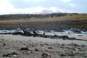 remains wooden trading ship with ben Loyal by merearthling