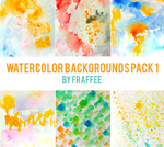 Watercolor Backgrounds Pack 1 by fraffee