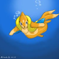 Floatzel by Nukude