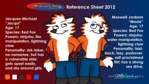 The Dynamite Twins Reference Sheet 2012 by JWthaMajestic