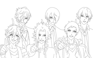 Brothers Conflict Lineart by AkuMichi