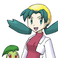 Crystal and Chikorita by Quilofire