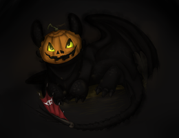 Toothless halloween by ISpyrq
