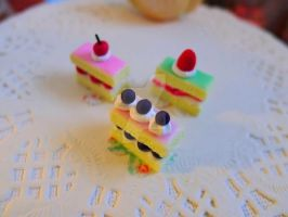 Fruit slice mini cakes trio 1/6 scale by LittlestSweetShop