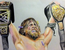 Daniel Bryan - WWE champion. by Artbynash