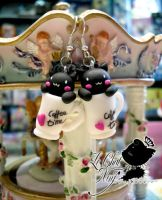 """Dolce Mio Miao"" Earrings by LeChatNoirHandMade"