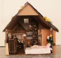Fairy Dollhouse with a fireplace - outside back by RevelloDrive1630