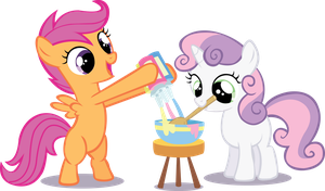 Scootaloo - Sweetie Belle by midnite99
