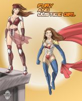 Fury And Justice Girl redesign by mistreye by MisterEye