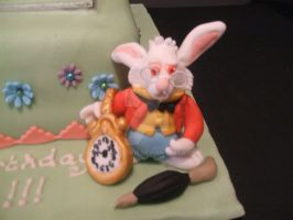 Rabbit from Alice Cake by 0970jackie