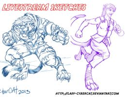 2 November Livestream Sketch Commissions 8 by lady-cybercat