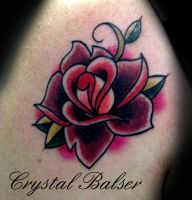 Old School Rose Tattoo by IAteAllMyPaste
