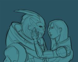 Shepard and Garrus by Pandoxitty