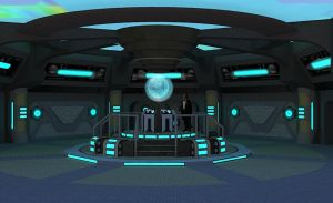 New Tardis Console Room by calamitySi