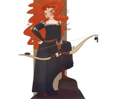 Merida-Bookmark by demonic-black-cat