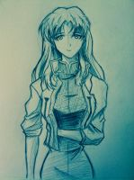 Misato Sketch by WillisNinety-Six