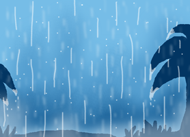 Rainy background first attempt by Cocoafox895