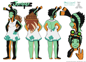 Juniper Ref Sheet by Astronblackmoon