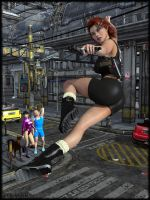 Black Widow In Action by Ethakar