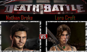 Nathan Drake vs Lara Croft by SonicPal