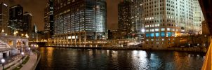 Panorama Chicago River by BonaFideChimp