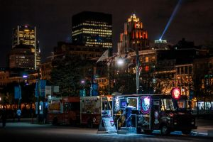 Food truck downtown Montreal by Nothing-Z3N