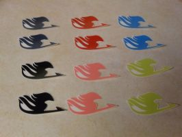 Fairy Tail Temporary Tattoos by Keropanda-DuckieC
