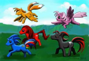 Sonic ponies by NetRaptor